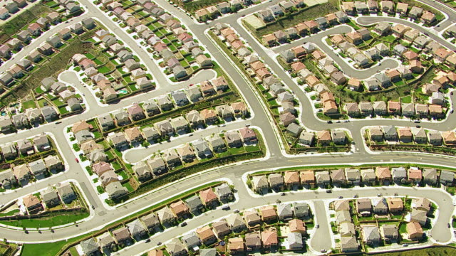 Aerial shot of Southern California housing development video