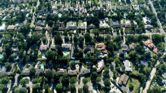 Aerial shot of Southern California Neighborhood video