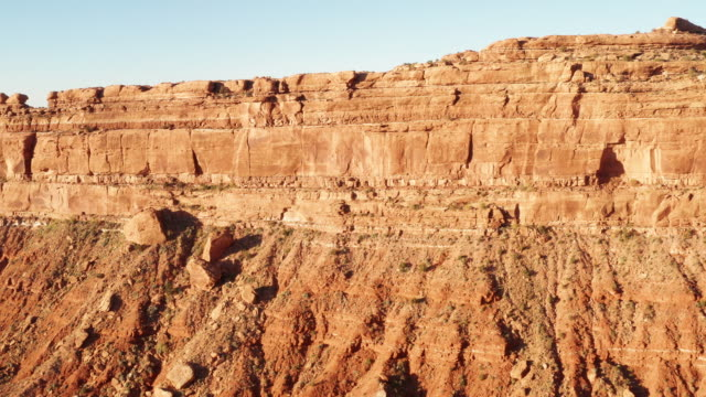 Aerial shot of the amazing rock formations on southern Utah.