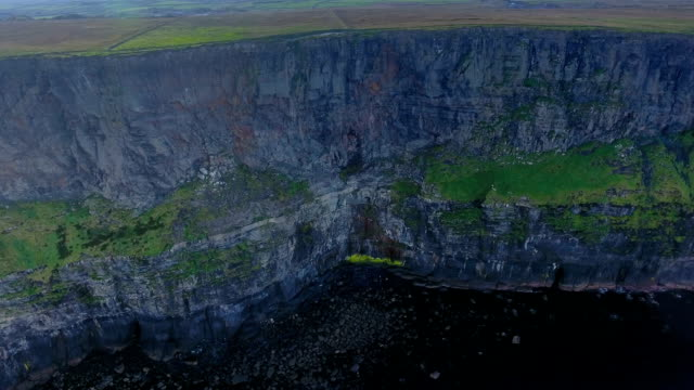 Aerial shot of the big rocks from Cliffs of Moher video