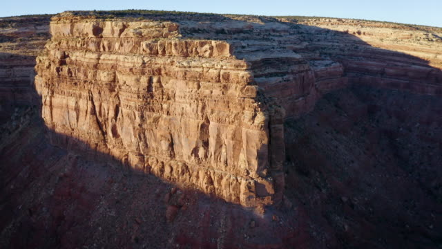 Aerial shot of the cliffs along the edge of Cedar Mesa in Southern Utah