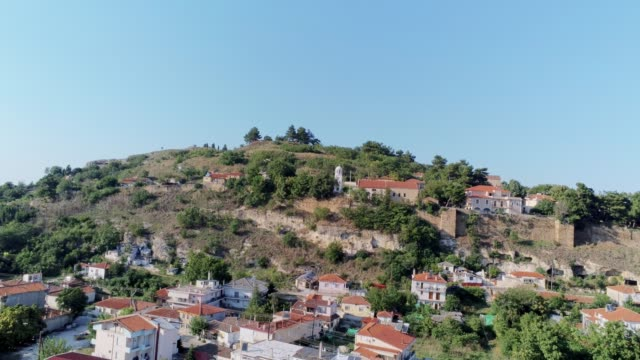 HDR Aerial shot of the historical medieval town of Didymoteicho in northern Greece video