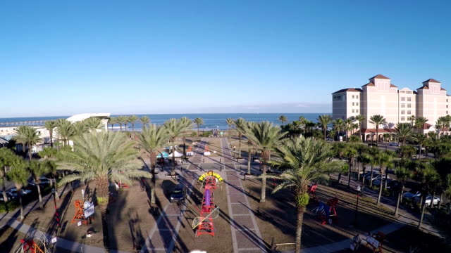 Aerial shot of The Jacksonville Beach video