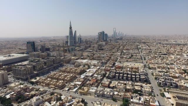 stockvideo's en b-roll-footage met luchtfoto van de stad riyad - riyad