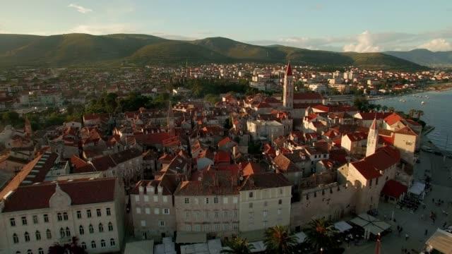 Aerial Shot of Trogir Croatia video