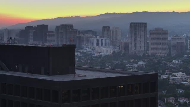 Aerial Shot of Westwood from Over a Century City Skyscraper video