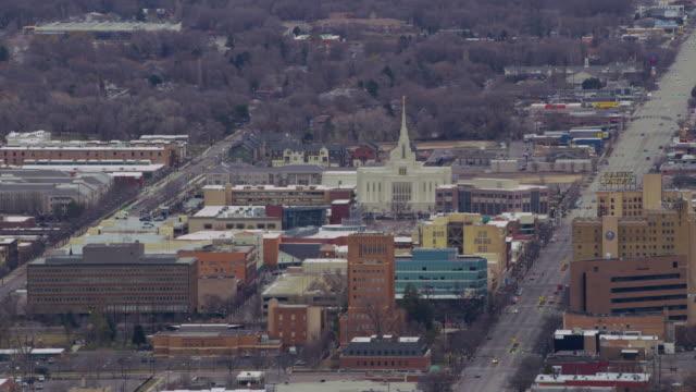 Aerial shot Ogden, Utah Ogden, Utah circa-2017, Aerial shot Ogden, Utah utah stock videos & royalty-free footage