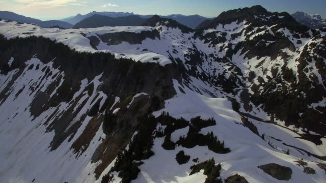Aerial Shot Rotating by Artist Point in Snoqualmie-Mt Baker National Forest video