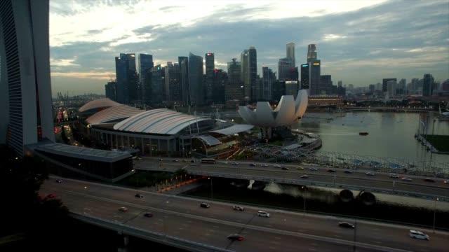Aerial Singapore Skyline