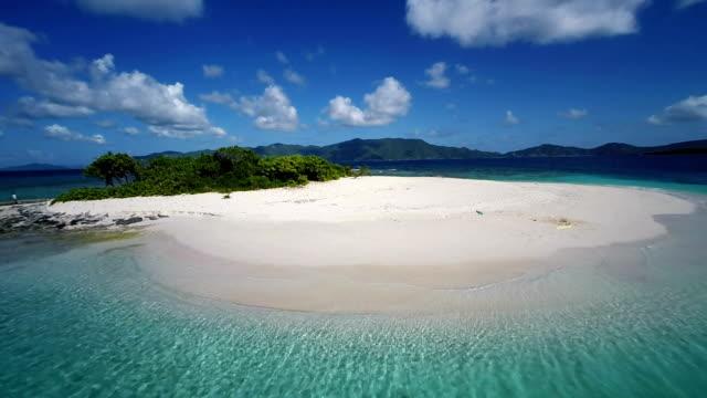 aerial slow motion video of Sandy Spit, British Virgin Islands video