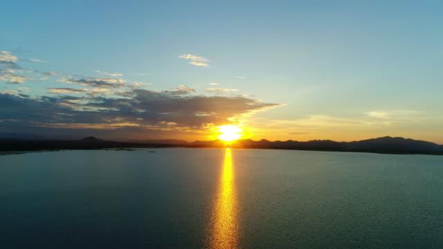Aerial sunset. video