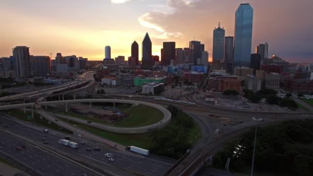 Aerial Texas Dallas video