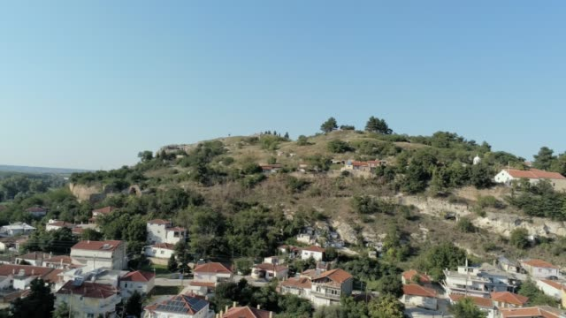 aerial - The medieval town of Didymoteicho in Thrace, North Greece video