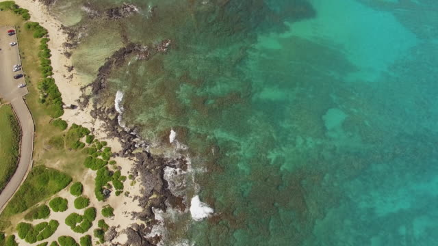 Aerial The ocean off the coast of Hawaii Aerial The ocean off the coast of Hawaii big island hawaii islands stock videos & royalty-free footage