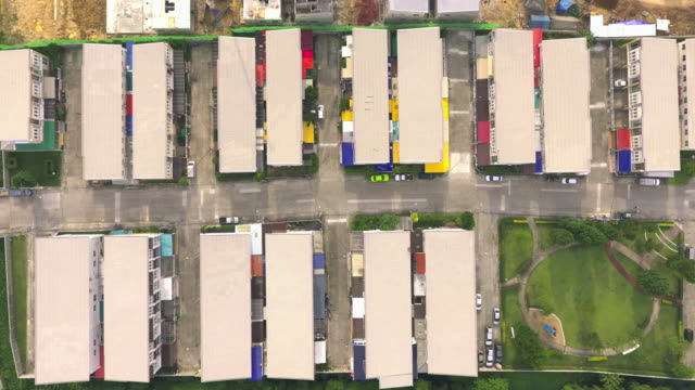aerial time lapse shot of town home video