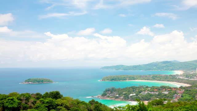 Aerial Timelapse Of Tropical Kata Beach Andaman Sea Phuket