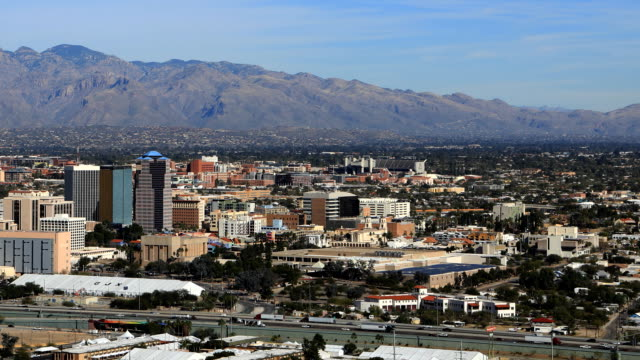 Aerial timelapse of Tucson, Arizona city center