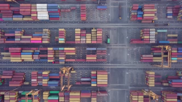 Aerial top View drone 4k footage of Container Cranes in Port, Colombo. Aerial top View drone 4k footage of Container Cranes in Port, Colombo, Sri Lanka. colombo stock videos & royalty-free footage