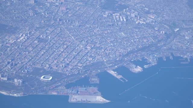 Top Luftbild von Odessa. Die wichtigsten Meer Stadt in der Ukraine. 16.04.2018 – Video