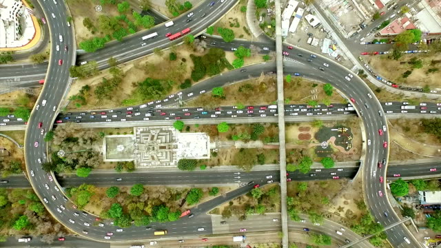 Aerial Traffic in Mexico City video