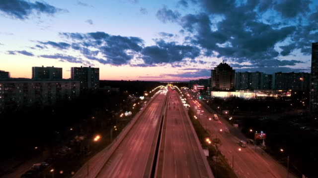 Aerial Urban Time Lapse video