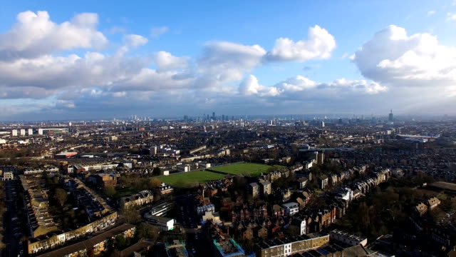 4K Aerial Urban View of London City video