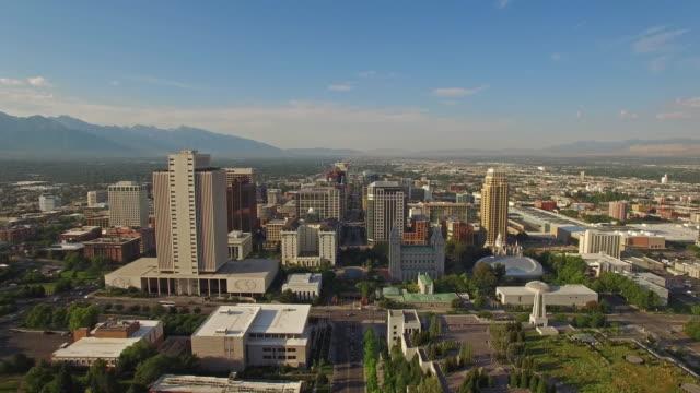 Aerial Utah Salt Lake City Aerial video of Salt Lake City Utah. utah stock videos & royalty-free footage