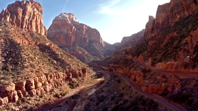 Aerial Utah Zion National Park video