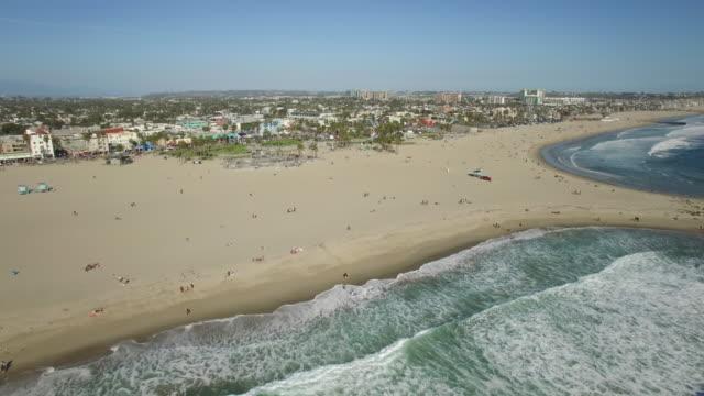 Aerial Venice Beach, Los Angeles video
