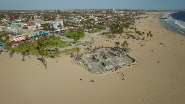 Aerial Venice Beach Skatepark, Los Angeles video