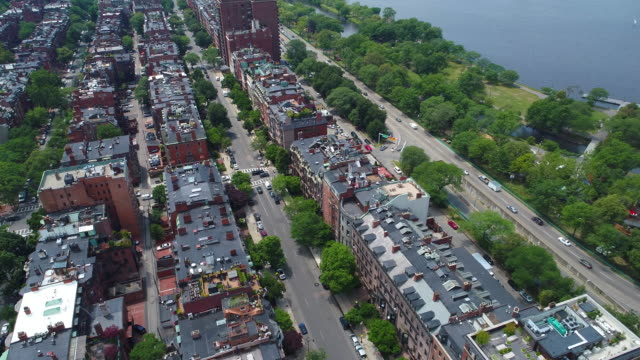 Aerial video Beacon Street Boston video