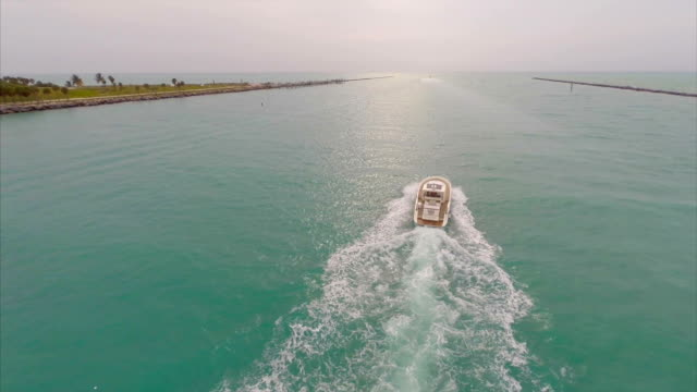 Aerial video Boating in Miami video