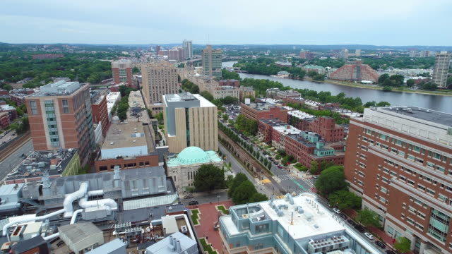 Aerial video Boston drone 4k video