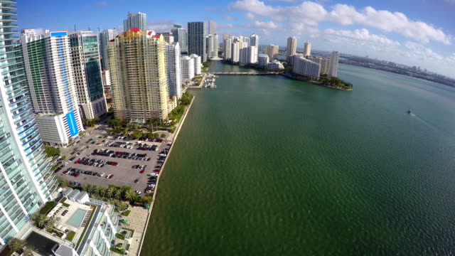Aerial video Brickell and Brickell Bay video