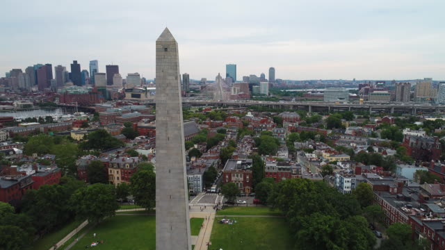 Aerial video Bunker Hill Monument Massachusetts video