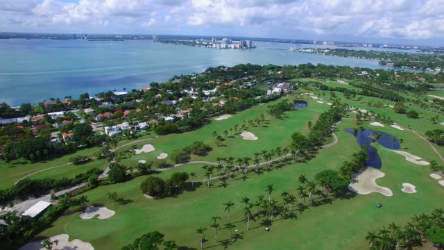 Aerial video coastal Miami Beach video