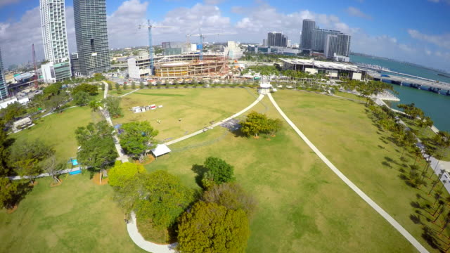 Aerial video Construction site Downtown Miami video