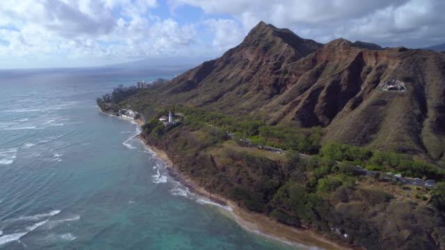 Aerial video Diamond Head Hawaii video