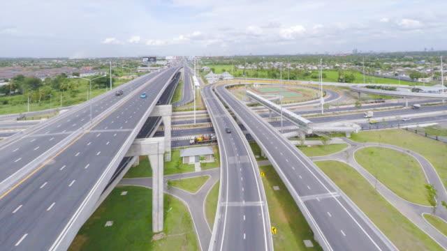 Aerial video Highway traffic video