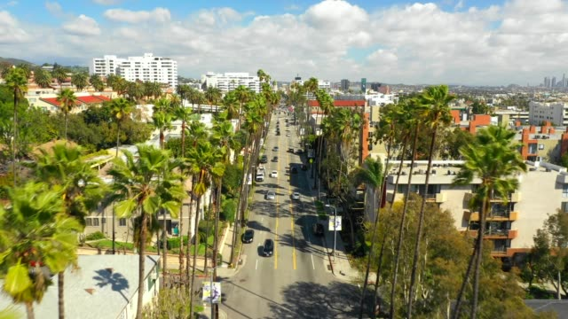aerial video hollywood ca usa - california video stock e b–roll
