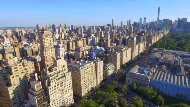 Aerial video Manhattan New York Stock aerial video of Manhattan highrise buildings near Central Park central park manhattan stock videos & royalty-free footage