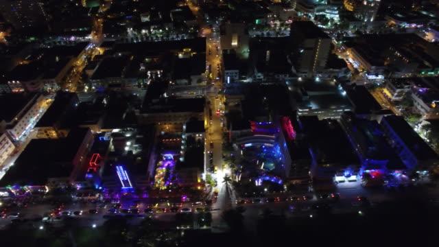 aerial video miami beach på natten - nattliv bildbanksvideor och videomaterial från bakom kulisserna