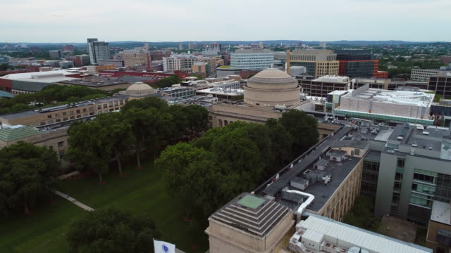 Aerial video MIT School of Architecture Boston Cambridge video