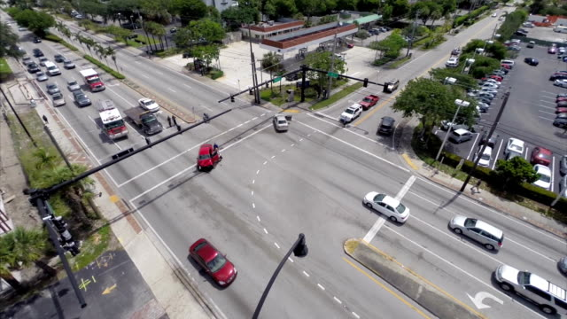 Aerial video of a car accident video