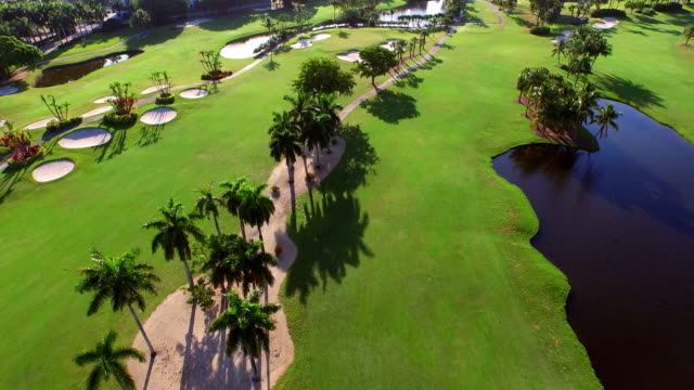 Aerial video of a golf course in Hallandale FL