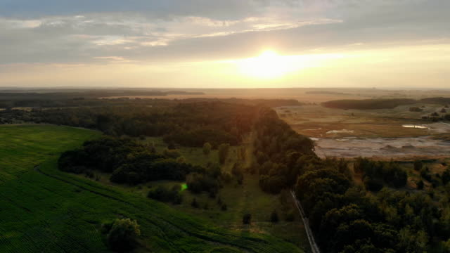 Aerial video of a landscape in the countryside. video
