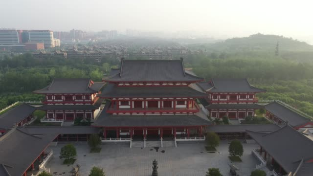 Aerial video of ancient Chinese Architecture Aerial video of ancient Chinese Architecture craftsman architecture stock videos & royalty-free footage