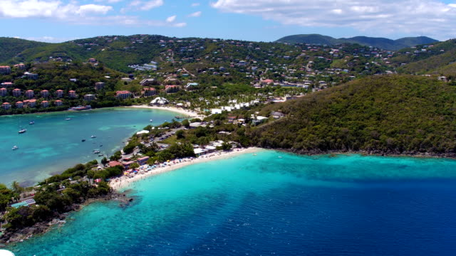 aerial video of Coki Point, St.Thomas, US Virgin Islands video