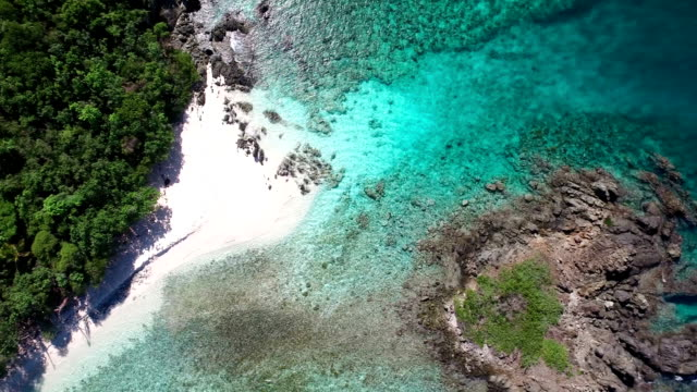 aerial video of Denis Bay and Perkins Cay, St.John, USVI video