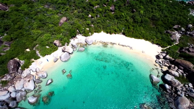 aerial video of Devil's Bay, Virgin Gorda, BVI video